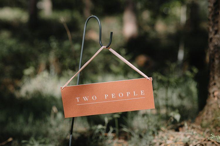 Minimalist Wedding Sign Lining The Venue Aisle