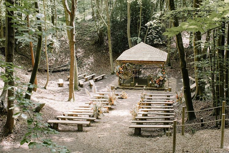 Outdoor Woodland Ceremony at Beech Dell at GreenAcre in Buckinghamshire