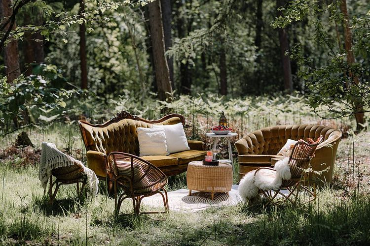 Chill Out Zone with Antique Furniture, Rugs and Cushions