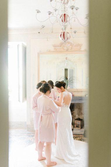 Wedding Morning with Bride in Anna Kara Wedding Dress