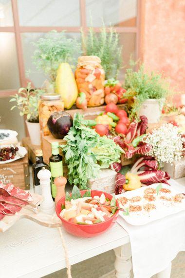Fresh Vegetables Grazing Table