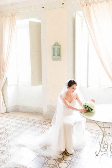 Elegant Bride in Anna Kara Wedding Dress