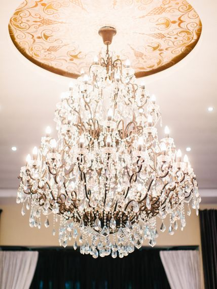 Beautiful Crystal Chandelier at Africa Wedding