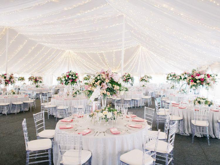 British Garden Party Style Reception For Africa Wedding