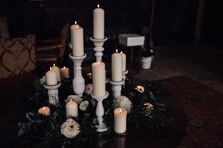 Candle Lit Wedding Ceremony // Image By Samuel Docker Photography
