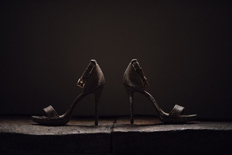 Metallic Heels By Michael Kors For Bride // Image By Samuel Docker Photography