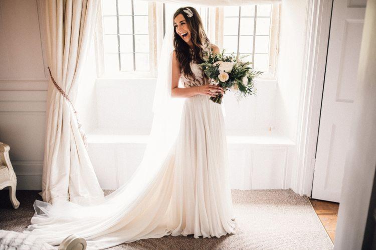 Bespoke Amanda Wakeley Wedding Dress // Images From Samuel Docker Photography