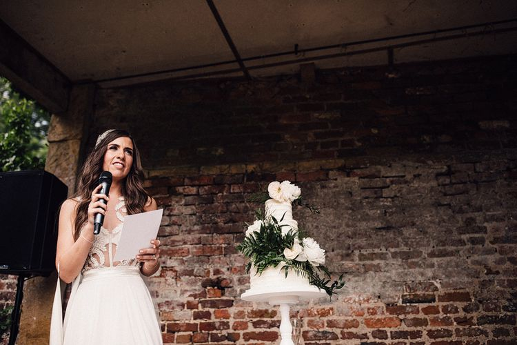 Bride Making A Speech On Wedding Day // Images From Samuel Docker Photography