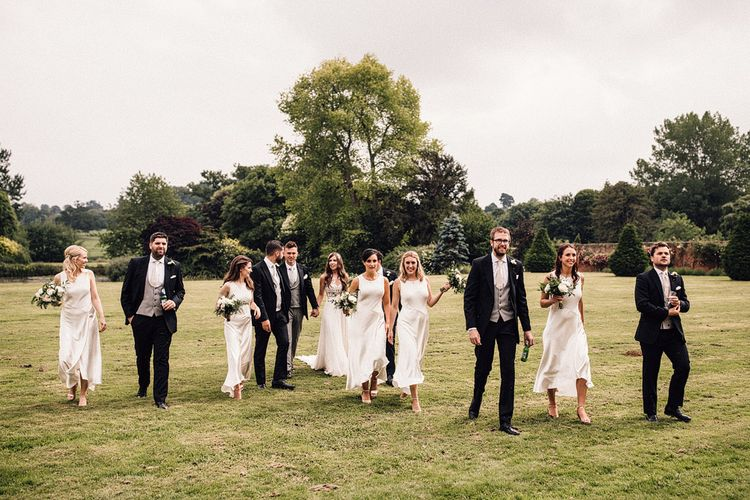 Wedding Party In Ivory And Grey // Image By Samuel Docker Photography