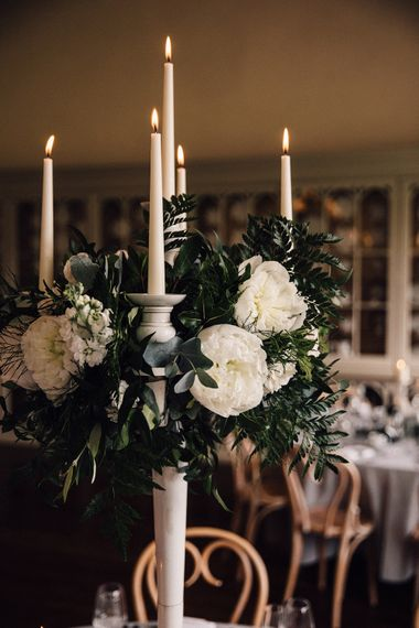 Grey, Ivory & Green Wedding Decor // Image By Samuel Docker Photography