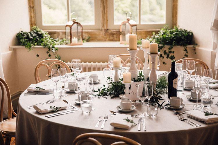 Grey, Ivory & Green Wedding Decor // Image By Samuel Docker Photography