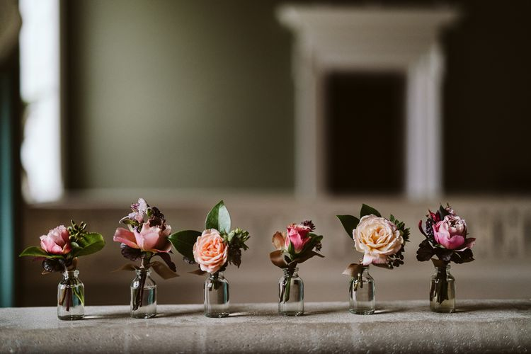 Buttonholes For Wedding // Image By John Barwood Photography