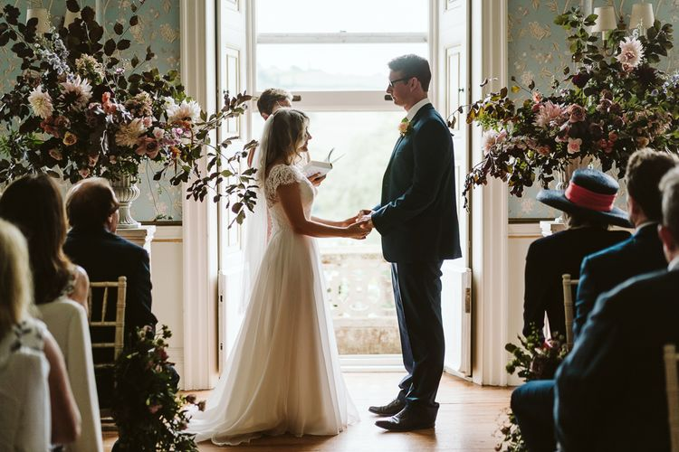 Wedding Ceremony At Pynes House // Image By John Barwood Photography