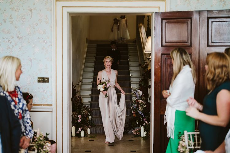 Bridesmaid In Multiway Dress // Image By John Barwood Photography