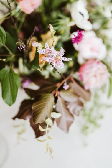 Wedding Florals In Pink Tones // Image By John Barwood Photography