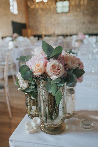 Pink Rose Wedding Flowers | Pastel Pink & Mint Green Wedding at Granary Estates Suffolk | Julia & You Photography