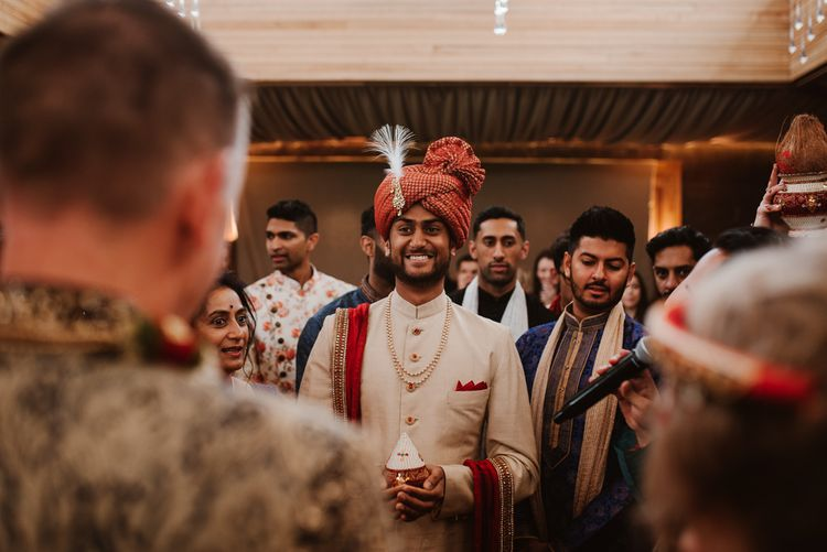 Groom in traditional Indian wedding dress