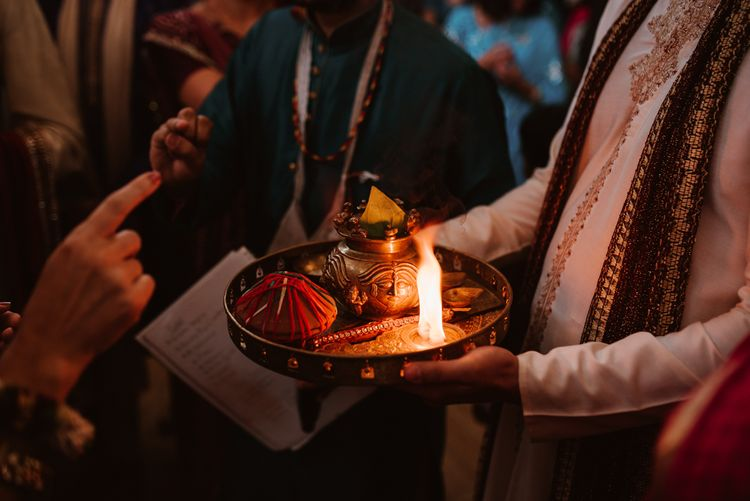 Hindu wedding ceremony at Elmore Court with civil wedding ceremony later on