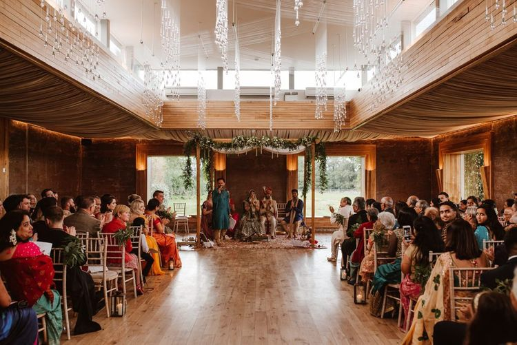 Gillyflower Hindu wedding ceremony and civil wedding ceremony in the main house