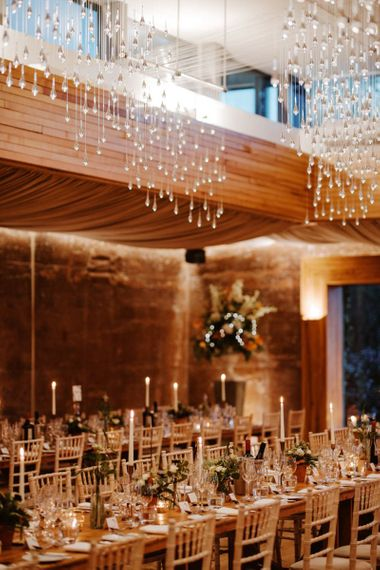 Candle lit reception at Elmore Court Gillyflower