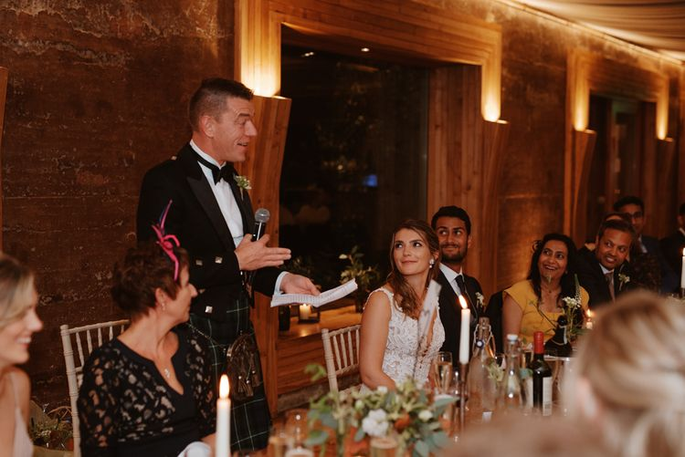 Father of the bride wedding speech at Elmore Court