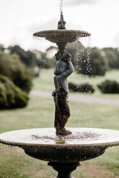 Fountain   Outdoor Cornish Wedding at Boconnoc Estate   Nick Walker Photography