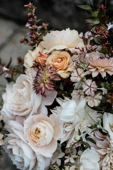 Pale Pink & Peach Wedding Flowers   Outdoor Cornish Wedding at Boconnoc Estate   Nick Walker Photography