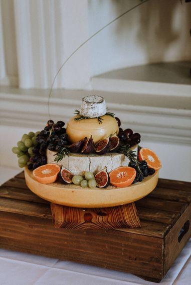 Cheese Tower Wedding Cake   Outdoor Cornish Wedding at Boconnoc Estate   Nick Walker Photography