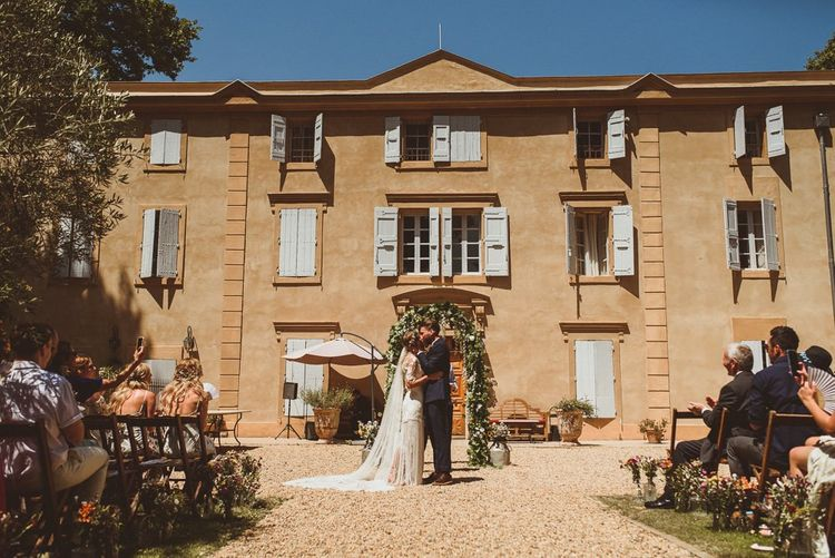 Outdoor Wedding At Chateau