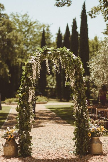 Flower Arch For Outside Wedding