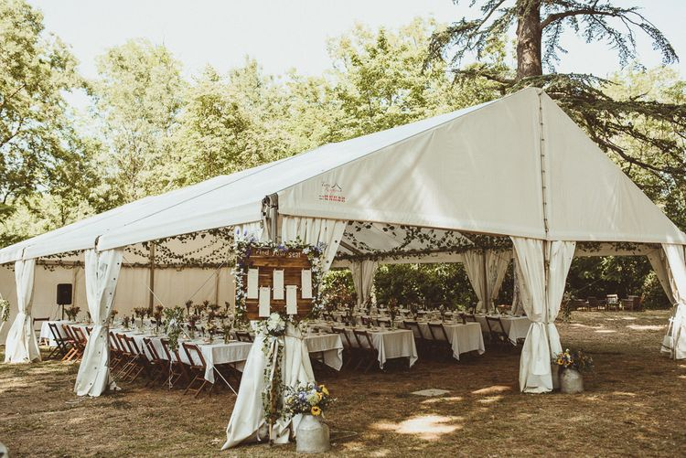 Open Marquee Wedding Reception