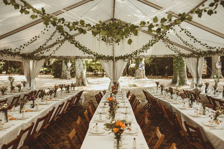 Wedding Reception Decor In Marquee