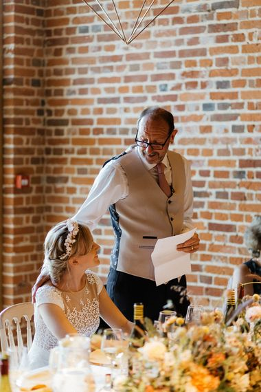 Father of the bride wedding speech at Bury Court Barn