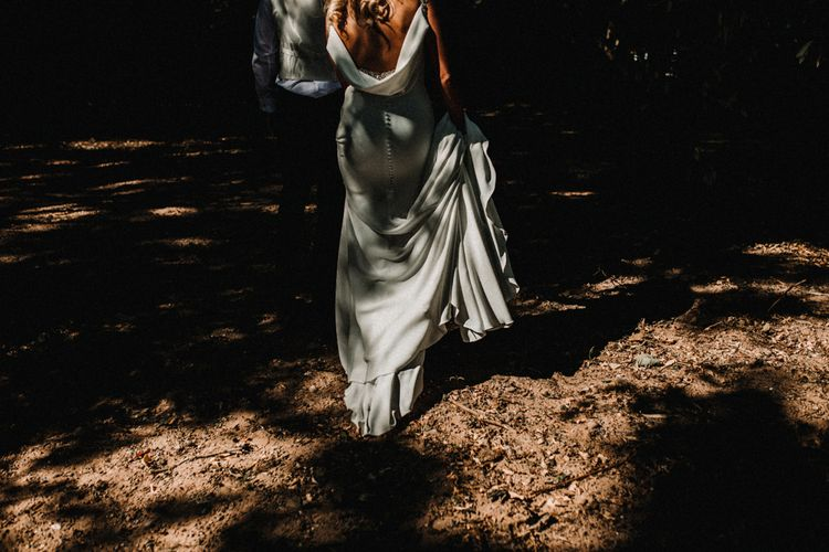 Glamorous Wedding At Riverdale Barn Northern Ireland With Bride In Fitted Pronovias Gown And Bridesmaids In Charcoal Grey TwoBirds Dresses Images From Carla Blain Photography
