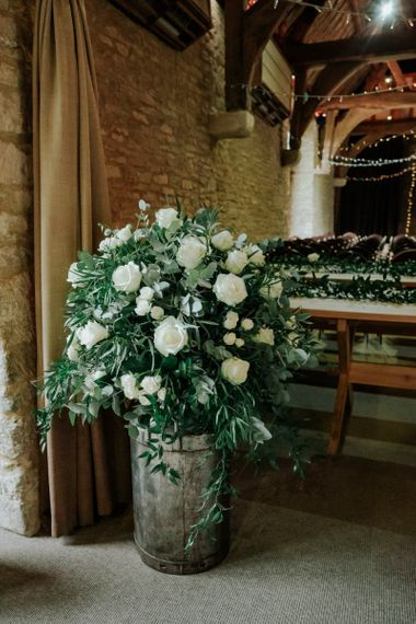 White Wedding Flowers and Decor