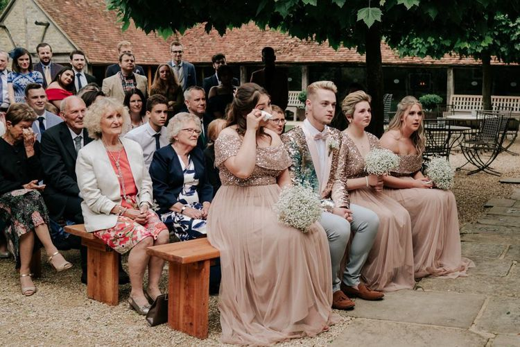 Guests Get Emotional At Outdoor Ceremony