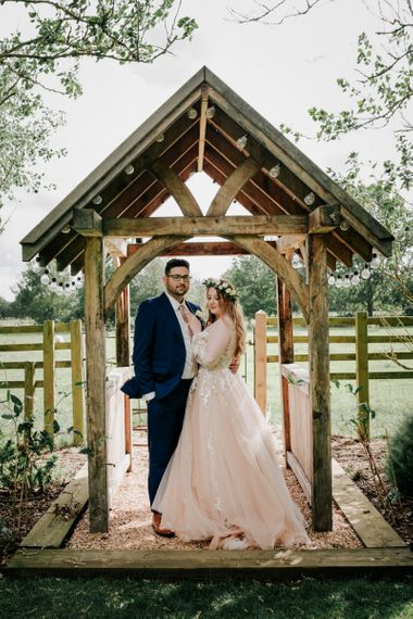 Pink Wedding Dress For Romantic Rustic Wedding