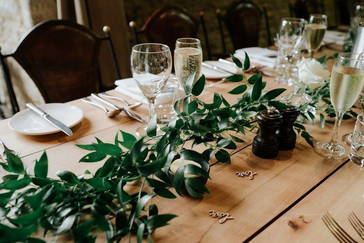 Foliage Wedding Decor For Barn Wedding
