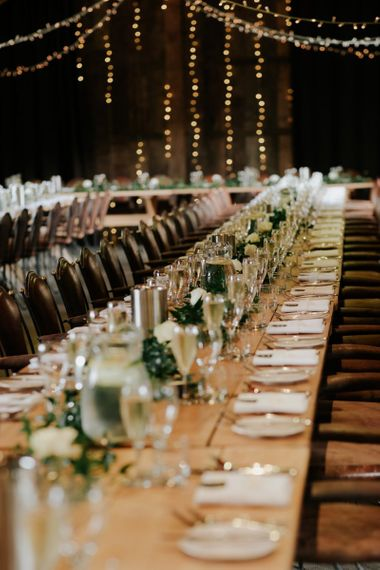 Wedding Table Setting For Barn Wedding