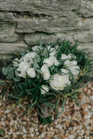 White Wedding Bouquet for Tythe Barn Wedding