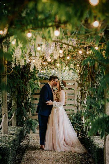 Pink Wedding Dress With Fairylights