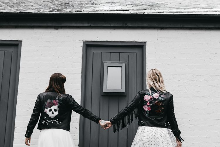 Customised leather jackets bridal coverups