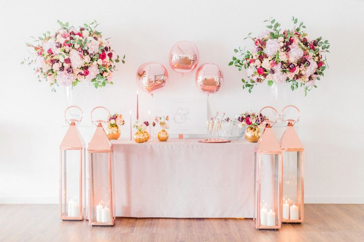Blush Pink Opulent London Engagement Party Inspiration Planned & Styled by Just Bespoke | Sanshine Photography
