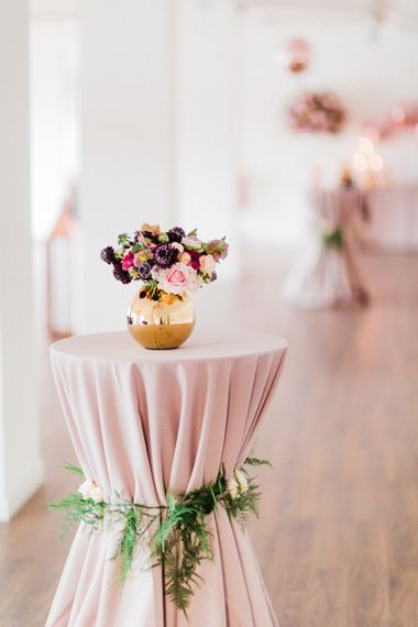 Floral Table Arrangements | Blush Pink Opulent London Engagement Party Inspiration Planned & Styled by Just Bespoke | Sanshine Photography