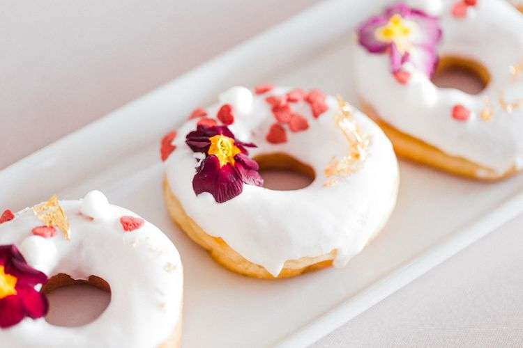 Doughnuts by Monannie Cakes | Blush Pink Opulent London Engagement Party Inspiration Planned & Styled by Just Bespoke | Sanshine Photography