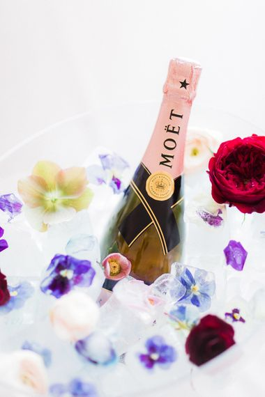 Moet in Classic Crockery Champagne Bucket | Blush Pink Opulent London Engagement Party Inspiration Planned & Styled by Just Bespoke | Sanshine Photography