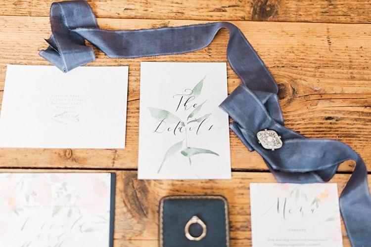 Romantic Wedding Stationery | Blush Pink, Romantic, Country Wedding Inspiration at Tithe Barn, Dorset | Darima Frampton Photography
