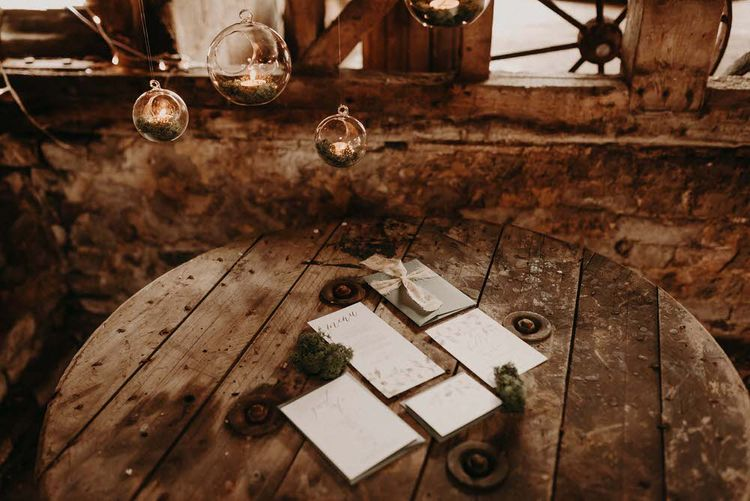 Wonderland Invites Wedding Stationery Suite | Boho at The Barns at Lodge Farm, Essex, by Rock The Day Styling | Kelsie Low Photography