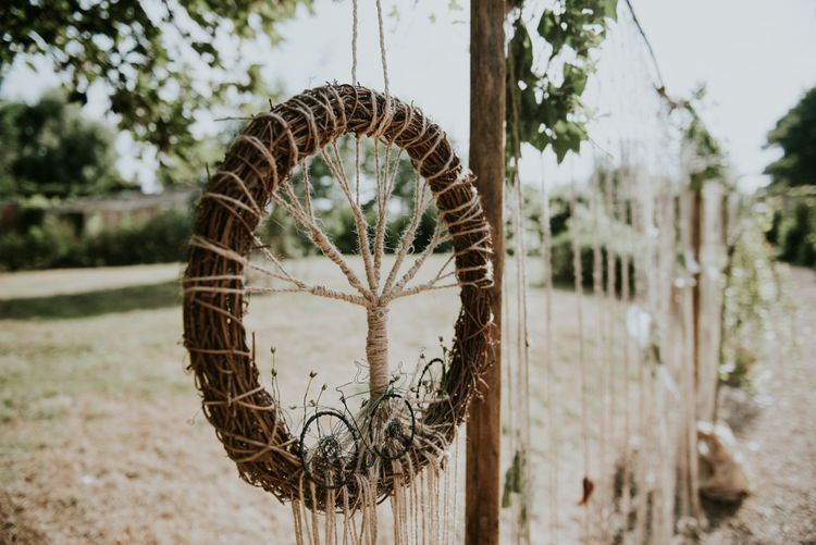 Dreamcatcher Wedding Decor // Image By Rosie Kelly Photography