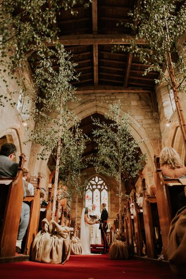 Silver Birch Trees For Wedding Ceremony // Image By Rosie Kelly Photography